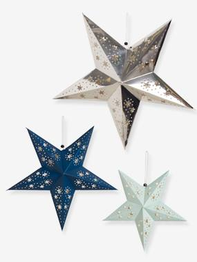 Vertbaudet Collection-Decoration-3 Christmas Stars in Openwork Paper