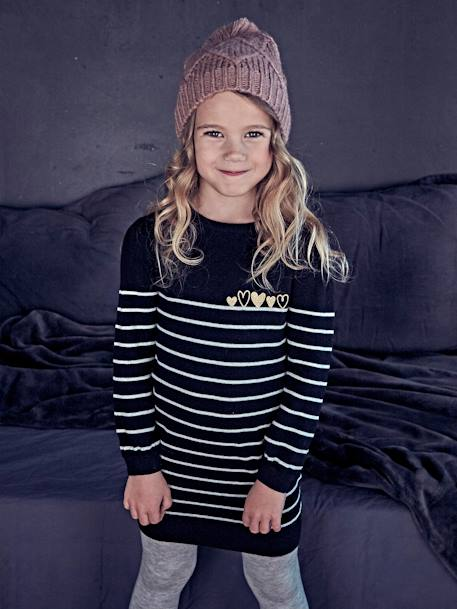 Cable Knit Beanie & Scarf for Girls PINK MEDIUM SOLID - vertbaudet enfant