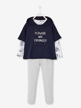 Girls-Sportswear-Sweatshirt + Top + Trouser Set for Girls