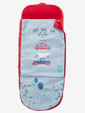 Bedding-Child's Bedding-Sleeping Bags & Ready Beds-Readybed® Sleeping Bag with Integrated Mattress, Vintage Car Theme