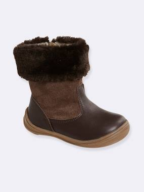 Outlet-Shoes-Boots with Fur for Girls