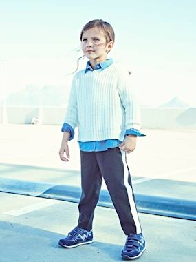 Vertbaudet Collection-Girls-Trousers-Cigarette Trousers for Girls