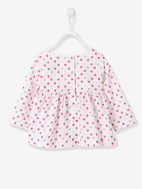 Baby Girls Printed Blouse & Trousers Outfit Set Printed pale pink - vertbaudet enfant
