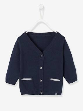 Baby-Cardigans & Sweaters-Cardigan with Decorative Pockets for Baby Boys