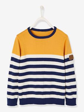 Vertbaudet Collection-Boys-Striped Jumper for Boys