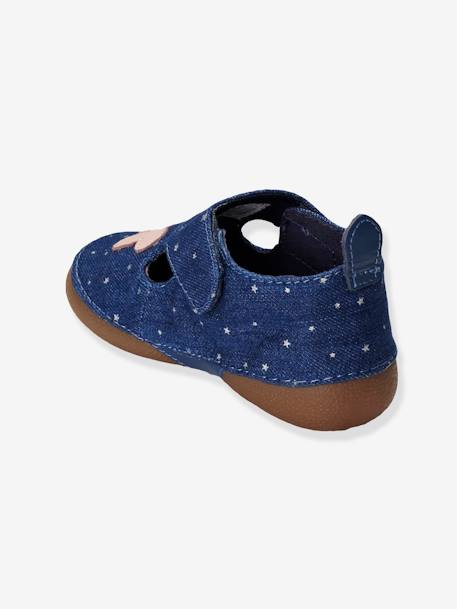 Girls Canvas Slippers Denim blue - vertbaudet enfant