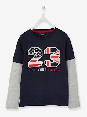 Boys-Tops-T-Shirts-2-in-1 Sports Top for Boys