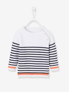 Baby-Jumpers, Cardigans & Sweaters-Sailor-Type Top for Baby Boys