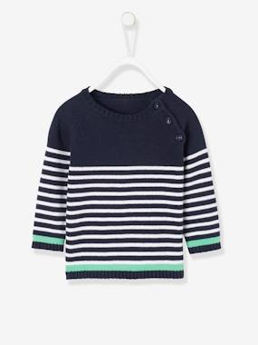 Baby-Cardigans & Sweaters-Sailor-Type Top for Baby Boys