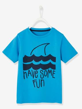 Vertbaudet Collection-Boys-T-Shirt with Shark Motif for Boys