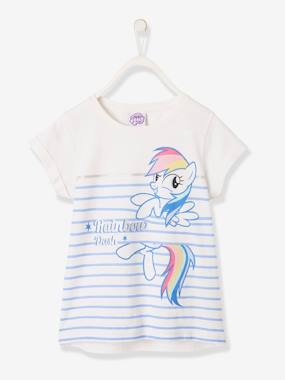 Vertbaudet Sale-Girls-Striped, Short-Sleeved My Little Pony® T-Shirt