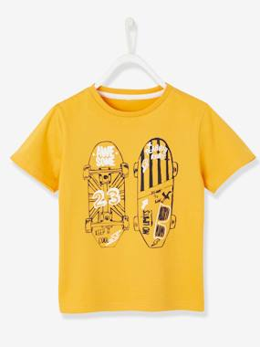 Vertbaudet Collection-T-Shirt with Skateboard Motif in Relief for Boys