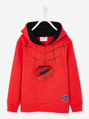 Summer collection-Boys-Cardigans, Jumpers & Sweatshirts-Spider-man® Sweatshirt with Hood and Removable Patches