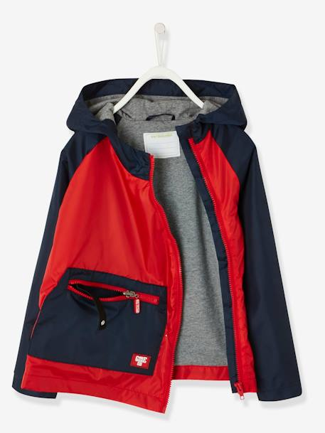 Packaway Windcheater for Boys RED MEDIUM SOLID WITH DESIG - vertbaudet enfant