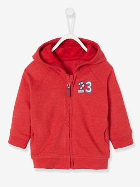 Baby-Cardigans & Sweaters-Baby Boys' Fleece Jacket with Zip