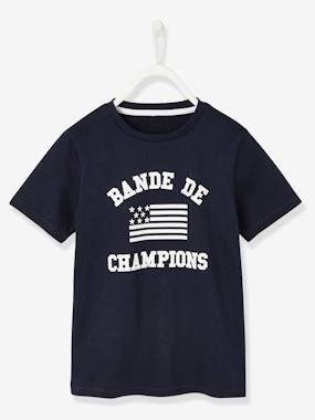 "haut-T-Shirt with ""Bande de Champions"" Motif for Boys"