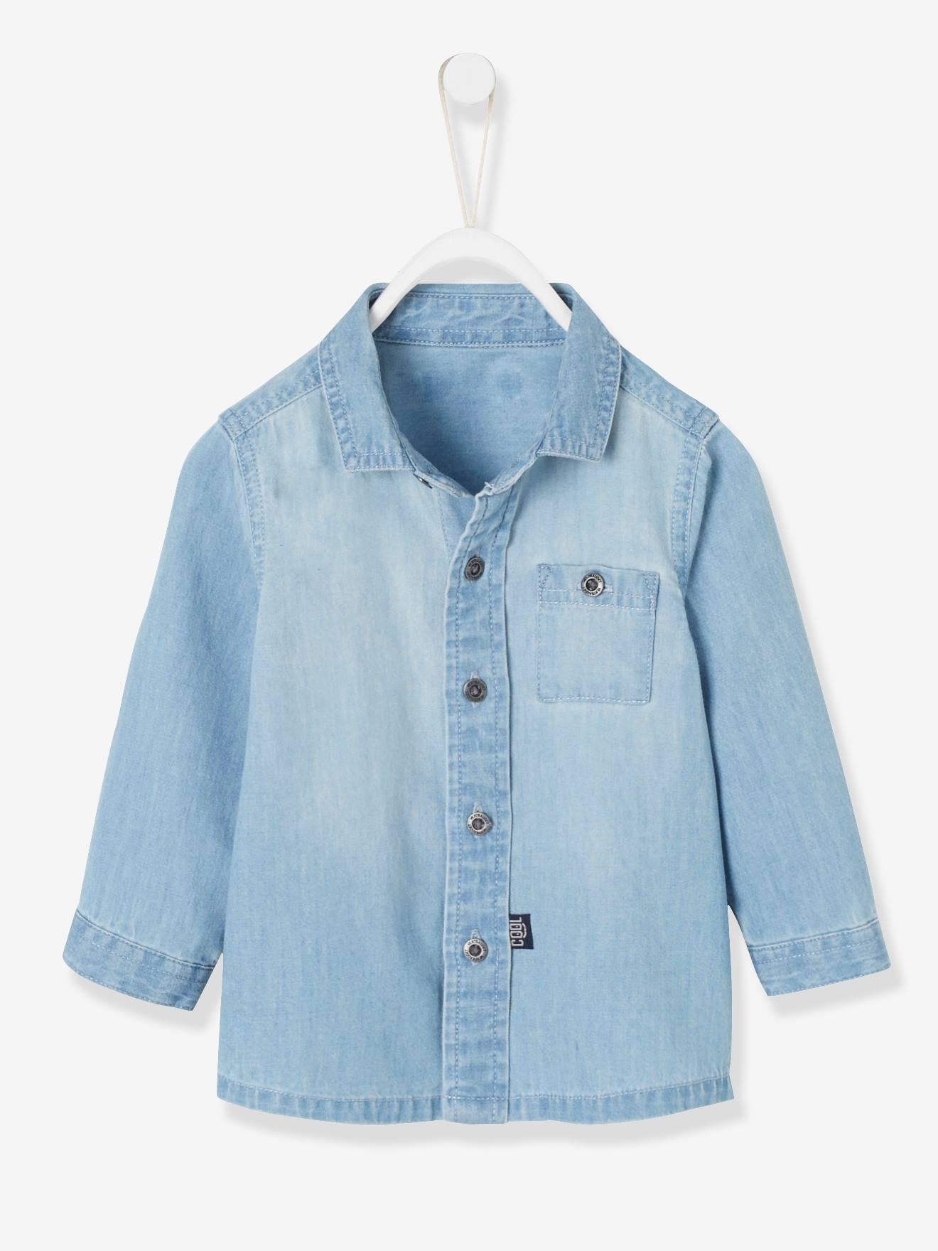 Denim Shirt for Baby Boys - blue light wasched, Baby