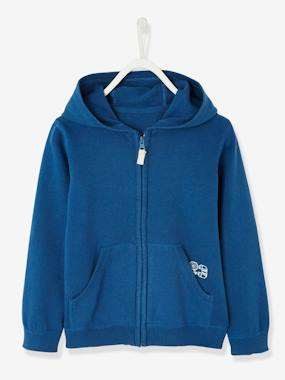 Boys-Cardigans, Jumpers & Sweatshirts-Cardigans-Zipped Jacket with Hood for Boys