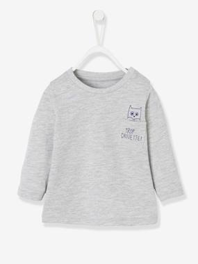 Baby-T-shirts & Roll Neck T-Shirts-T-shirts-Long-Sleeved Top with Motif on the Pocket