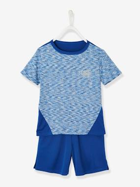Boys-Sportswear-Sports Combo for Boys: T-Shirt & Bermuda Shorts in Techno Fabric