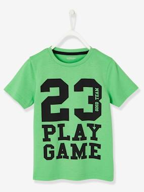 Boys-Tops-T-Shirts-T-Shirt with Inscription, for Boys