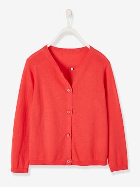 Girls-Cardigans, Jumpers & Sweatshirts-Cardigans-Cardigan with Glittery Buttons for Girls
