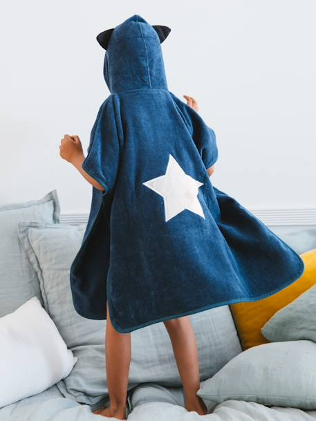 Superboy Hooded Poncho BLUE DARK SOLID - vertbaudet enfant