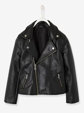 Girls-Biker-Style Jacket for Girls