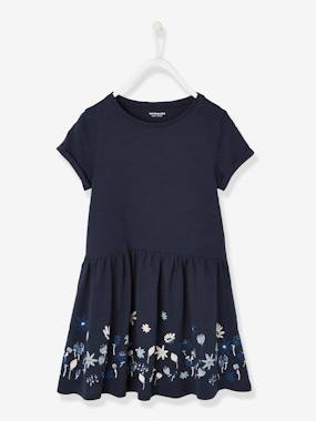 Vertbaudet Collection-Girls' Short-Sleeved Dress
