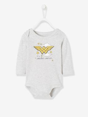 Baby-Bodysuits & Sleepsuits-Wonder Woman® Bodysuit, Printed with Removable Cape