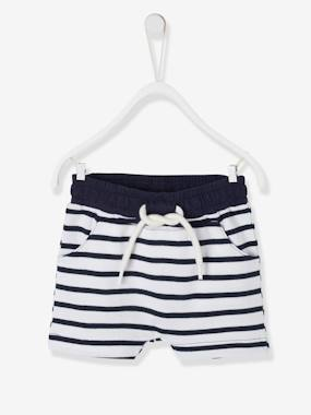 Baby-Shorts-Bermuda Shorts in Fleece for Baby Boys