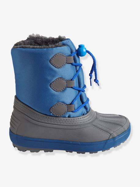 673685dcc Boys' Snow Boots - blue medium all over printed, Shoes