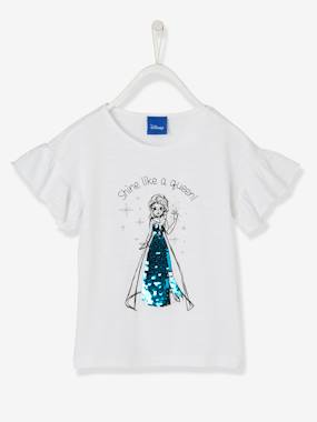 Licence-Fille-T-shirt Reine des Neiges® à sequins réversibles