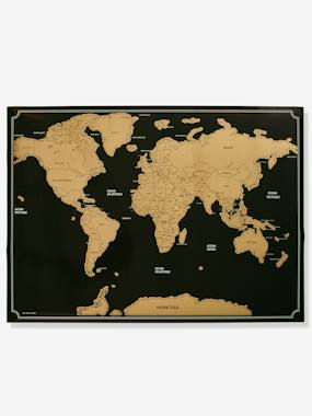 Decoration-Scratch-Off World Map