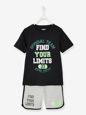 Boys-Sportswear-Sports Combo for Boys: T-Shirt & Bermuda Shorts