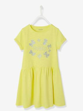 Vertbaudet Sale-Girls-Girls' Short-Sleeved Dress
