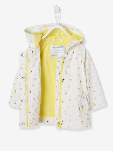 2822c02ac Raincoat with Hood and Motifs for Baby Girls BLUE DARK ALL OVER  PRINTED+PINK LIGHT