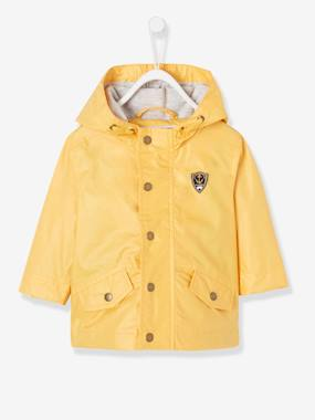 Coat & Jacket-Baby Boys' Coated Raincoat with Hood
