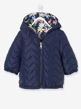 Baby-Light Reversible Jacket with Motifs for Baby Girls