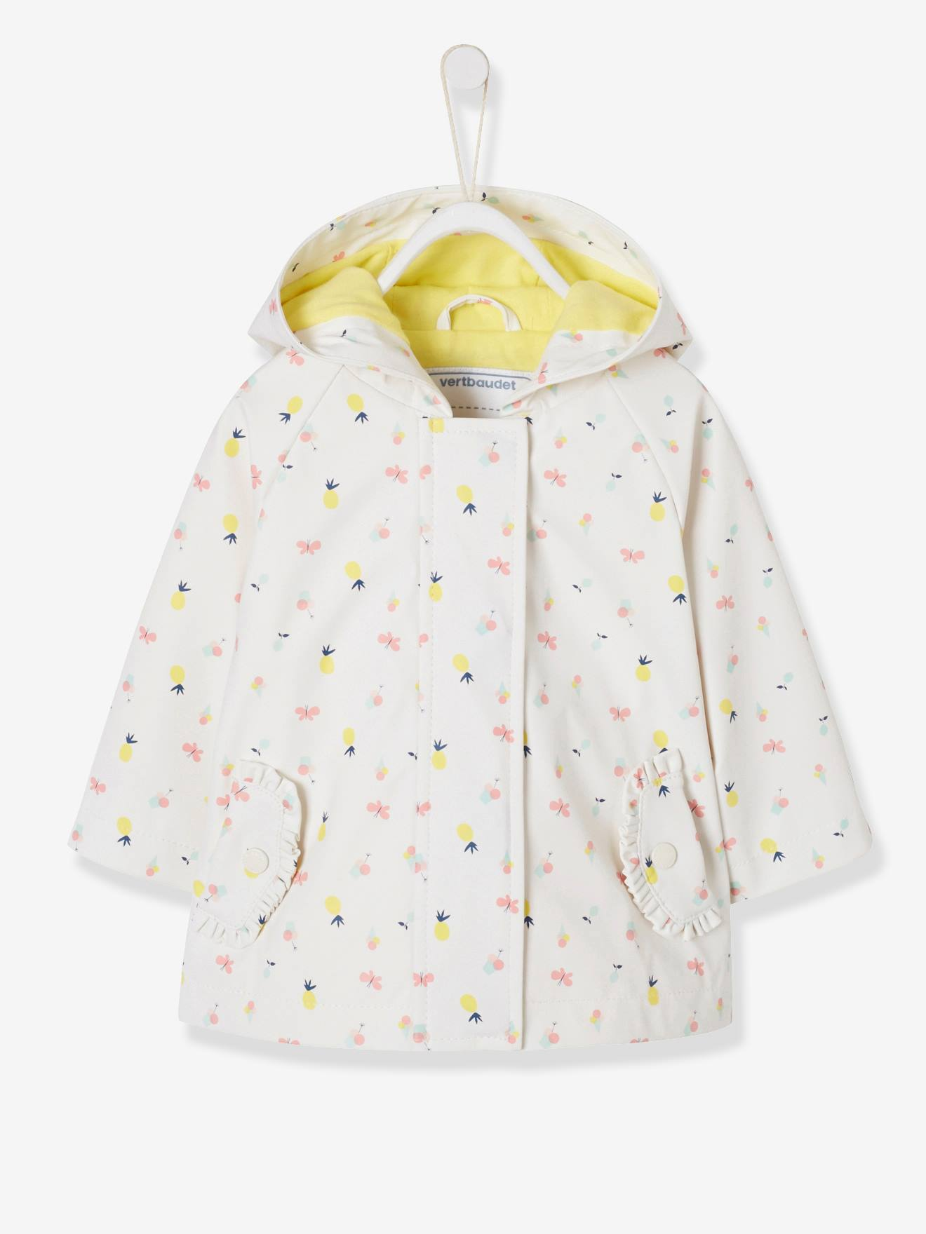 141a766f7 Raincoat with Hood and Motifs for Baby Girls - blue dark all over printed,  Baby