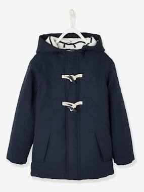 Boys-Coats & Jackets-Duffle Coat-Type Parka with Hood, for Boys