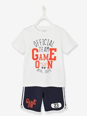 Vertbaudet Sale-Sports Combo for Boys: T-Shirt & Bermuda Shorts