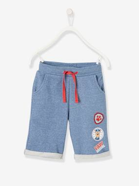 Vertbaudet Collection-Boys-Paw Patrol® Bermuda Shorts in Fleece