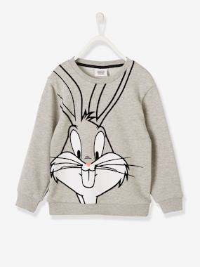 Summer collection-Boys-Cardigans, Jumpers & Sweatshirts-Looney Tunes® Sweatshirt, Bugs Bunny Motifs with Removable Patch