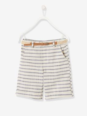 Boys-Shorts-Striped Bermuda Shorts for Boys