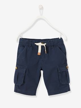 Short & Bermuda - Vertbaudet Fashion specialist for kids and baby : clothing, shoes and accessories-Cargo-Style Bermuda Shorts for Boys