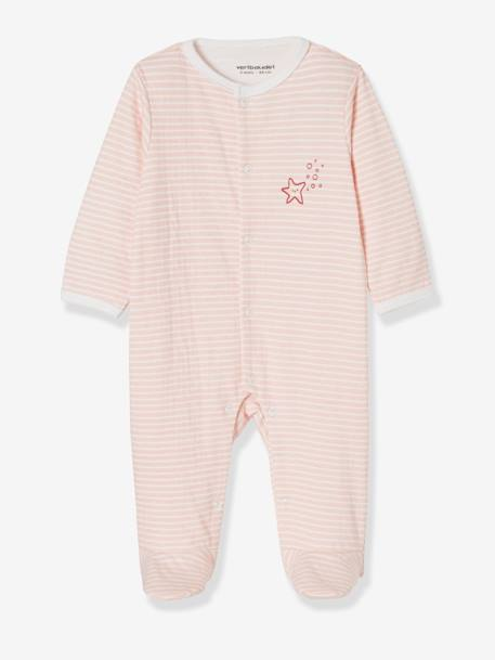 Pack of 2 Sleepsuits for Newborns, Seaside PINK LIGHT 2 COLOR/MULTICOL R - vertbaudet enfant
