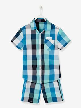 Boys-Nightwear-Short Pyjamas in Poplin for Boys