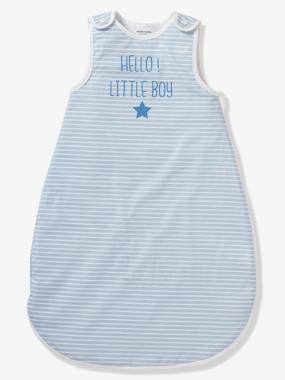 Vertbaudet Collection-Bedding-Sleeveless Summer Special Sleep Bag, HELLO LITTLE BOY