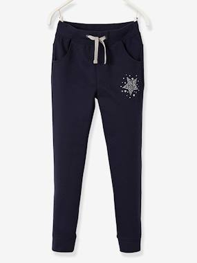 Sportwear-Fleece Joggers for Girls
